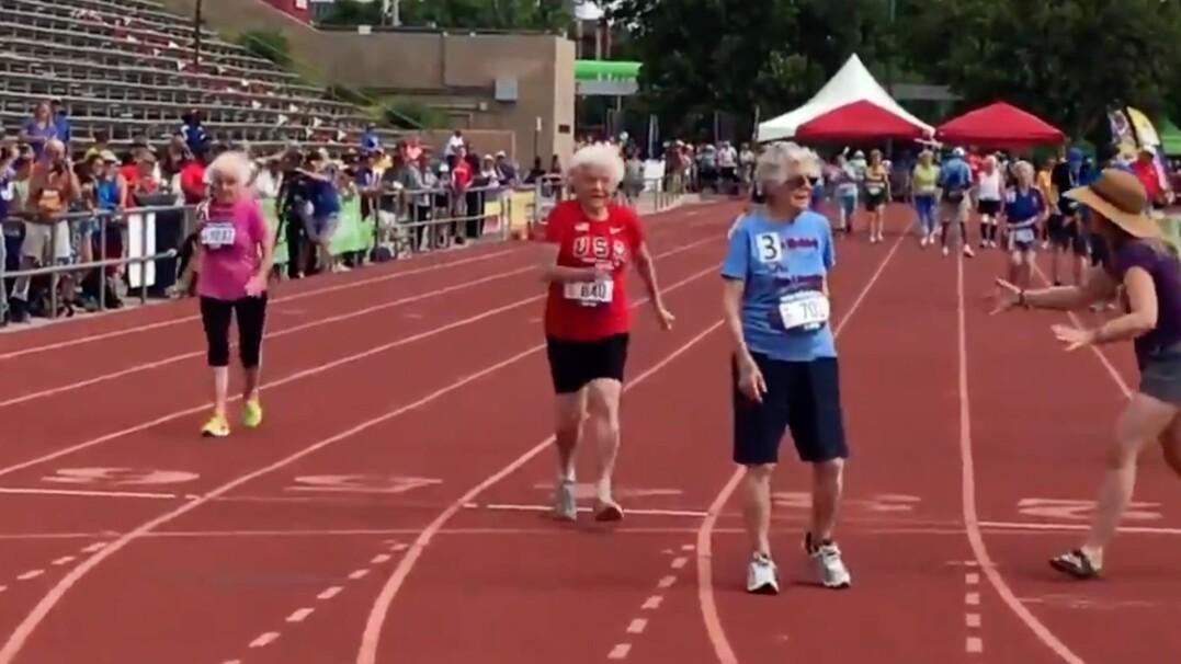 103-latka ustanawia rekord świata w biegu na 50 metrów