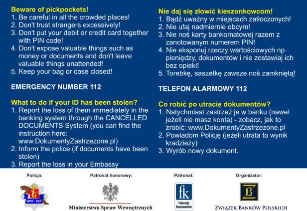 """Takie paszport policja rozdaje cudzoziemcom w czasie akcji """"Nie daj się złowić"""" ksp.waw.pl"""