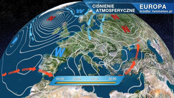 Niż Dragi rządzi pogodą w Polsce