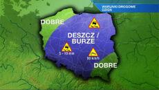 Uważajcie na drogach od Suwałk po Wrocław