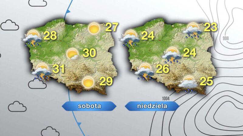 Prognoza pogody na weekend
