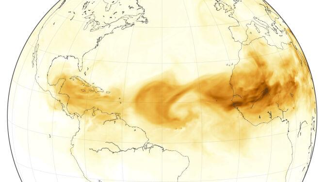 Żółte niebo tropików. Chmura pyłu połączyła Saharę, Karaiby i Teksas