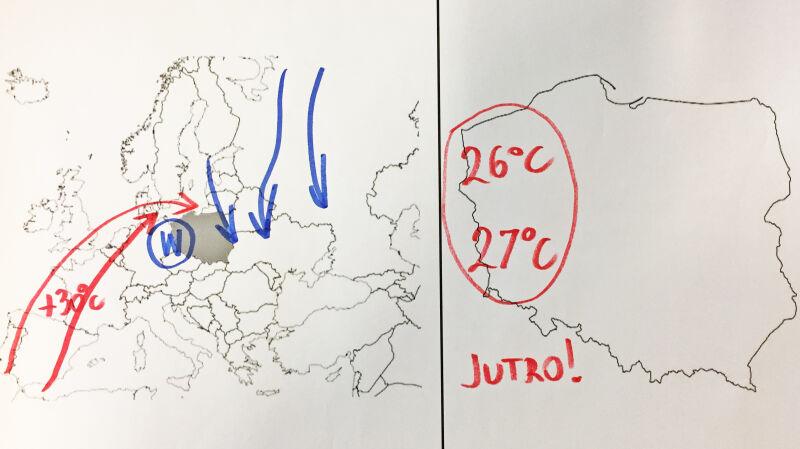 Sytuacja pogodowa nad Europą i Polską