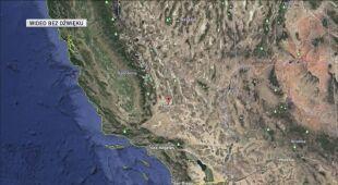 Lokalizacja trzęsienia ziemi w Kalifornii
